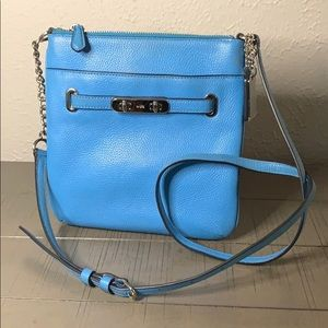Coach Leather Baby Blue Cross Body